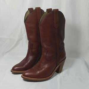 Vintage 7893 Frye Western Cowgirl Leather Boots